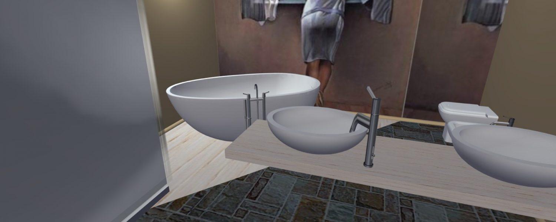 Progettazione il pallino arredo bagno art idraulica for Arredo bagno alba